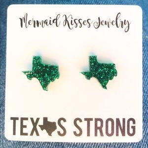 Jewelry - 🛑4/$20🛑 Texas Stud Earrings Green Baylor